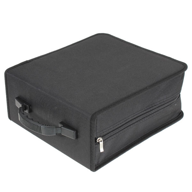 Leory New 320 Sleeves Black CD DVD Dics Media Storage Portable Carry Bag Case Wallet Holder Box Universal High Quality