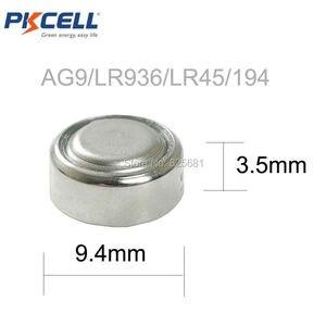 Image 3 - 12 Pièces 6 Carte AG9 Batteries LR936 LR45 194 936 936a 394a 394 SR936SW LR936 Piles Bouton 1.5V pile de Montre