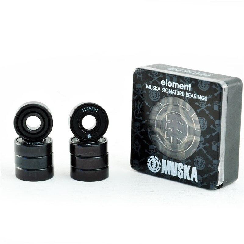 8pcs/Box ELEMENT Skate Bearings ABEC-7 Single Shield Sealed Bearing For Street Road Skateboard Bearing
