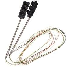 2 x дорожный сигнальный светильник HO OO масштабная модель железнодорожная пересекающая светодиодный уличный сигнал