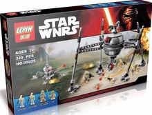 LEPIN 05025 Star Wars Series Spacecraft Model with 4 Minifigure Assemble Building Block Toy Compatible with Legoe 75142