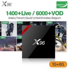 QHDTV IPTV Subscription 1 Year X96 France IPTV BOX Android 7.1 Smart TV Box S905W Set Top Box IPTV Arabic French Belgium Europe