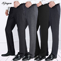 2016 autumn winter men's business casual pants homme trousers thick straight loose suit pants mens dress Pants plus size 46-50