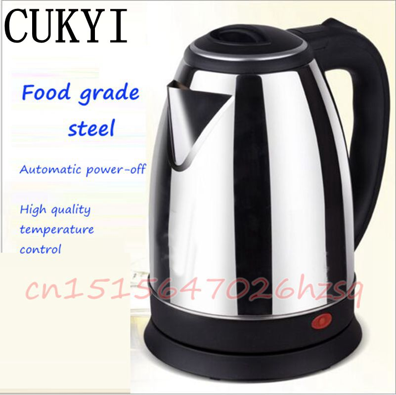 CUKYI Home appliance Household Stainless Steel Electric Kettle With Automatic power-off function Quick Heat Water Heating Kettle cukyi seven ring household electric taolu shaped anti electromagnetic ultra thin desktop light waves