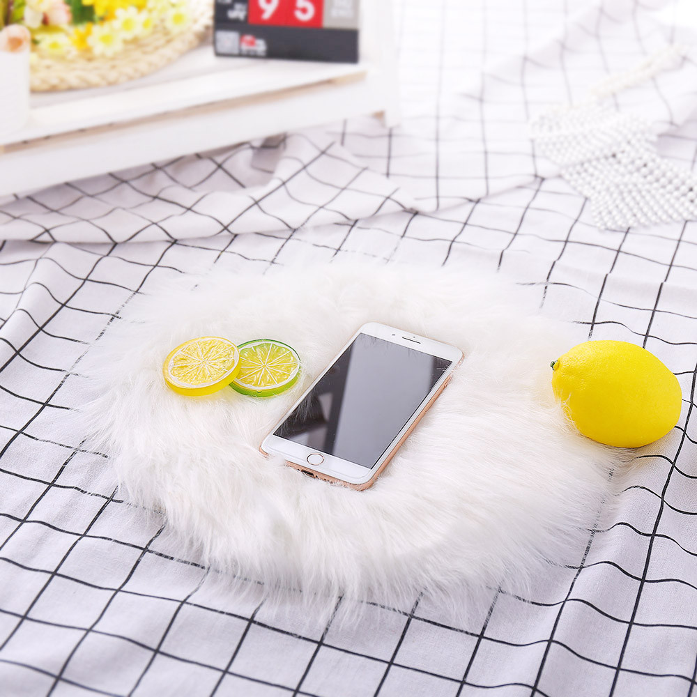 Soft Artificial Sheepskin Rug Chair Cover Artificial Wool Warm Hairy Carpet Seat Pad Mats For Home