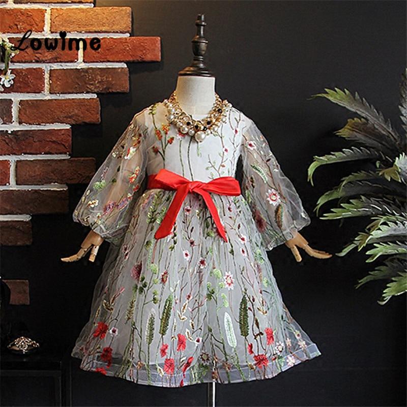 Pretty Kids Communion Dresses  Pageant Dresses For Girls 2018 New Design Vestido Daminha Flower Girl Dresses For Weddings