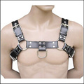 Fetish Men's Sexy Bondage Leather Belt Chest Harness Gay Buckles Fetish Costumes Clubwear Sex Toys For Women Men Lingerie H9268