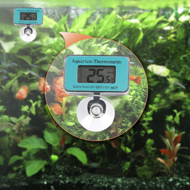 Lcd Digital Fish Tank Aquarium Thermometer Submersible Water Temperature Meter -50c~70c High/low Temperature Alarm