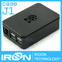 case J1: Official Original Case Box for Raspberry PI 3 model B PI3 and PI 2 Black ABS Plastic Box Cover Shell Enclosure Housing