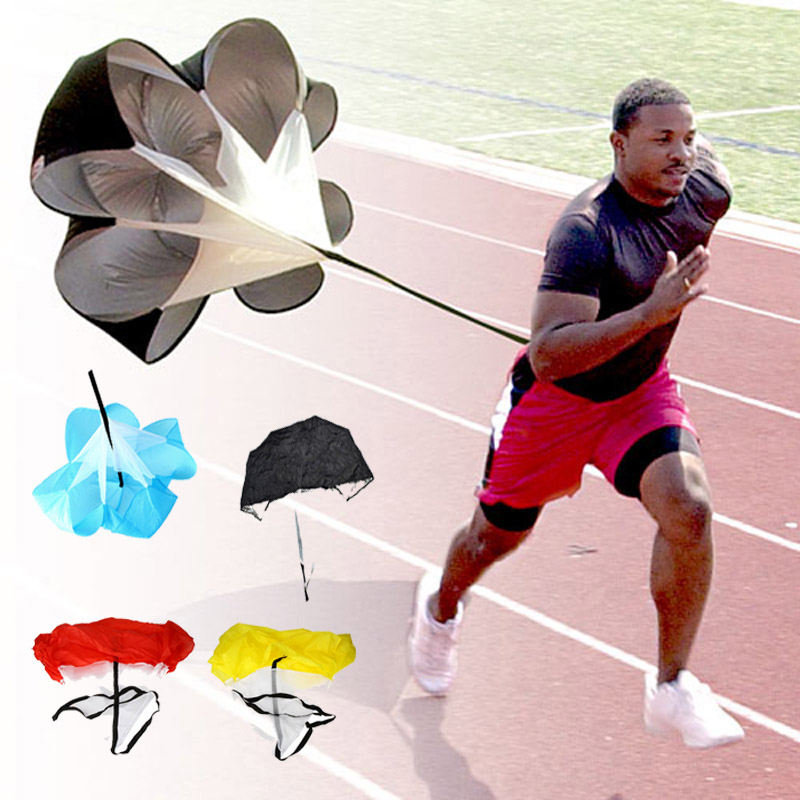 "Resistance regolabile 56 ""Speed ​​Drills Training Resistance Parachute Umbrella Running Chute Calcio Calcio Training Power Tool"