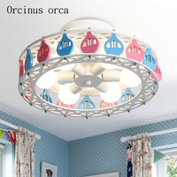 Creative personality ceiling lamp boy girl bedroom Princess Room children's room lamp lovely cartoon balloon LED ceiling lamp