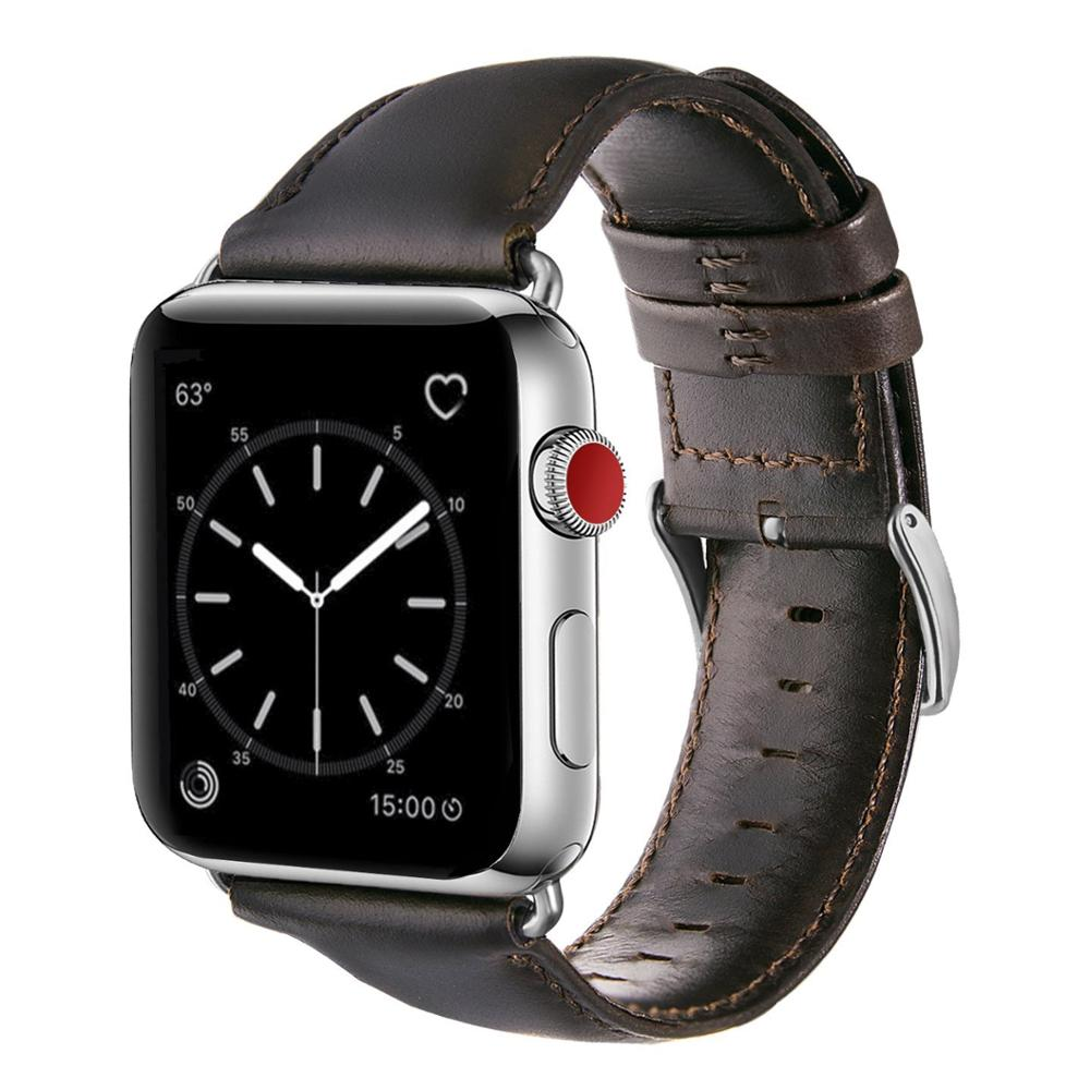 Watch Accessories Genuine Leather For Apple Watch Band 44mm 40mm & Apple Watch Bands 42mm 38mm Series 4 3 2 1 Watch Strap