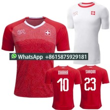 4af802cc6 ... top quality 2018 world cup switzerland red home soccer jersey national  team xhaka shaqiri embolo 18