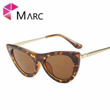 цена на MARC 100%UV400 2018NEW WOMEN sunglasses Wrap Eyewear oculos Leopard fashion Plastic Resin gafas Cat eye