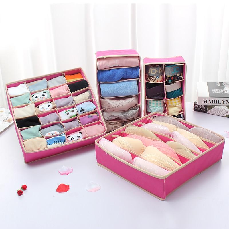 Ordinaire CE Underwear Bra Makeup Organizer Storage Box 2 Colors Drawer Closet  Organizers Boxes For Underwear Scarfs Socks Bra Multi Size In Storage Boxes  U0026 Bins From ...