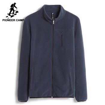 Пионерский лагерь на осень-зиму теплая Кофта мужская брендовая одежда чистый цвет толстый флис мужская толстовка на молни наивысшего качес...