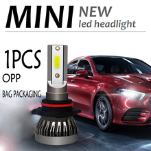 1 шт. фар автомобиля мини-лампа H7 светодиодный лампы H1 светодиодный H4 H8 H9 H11 комплект фар 9005 HB3 9006 HB4 для Авто 12V светодиодный 45Вт 6000LM лампы
