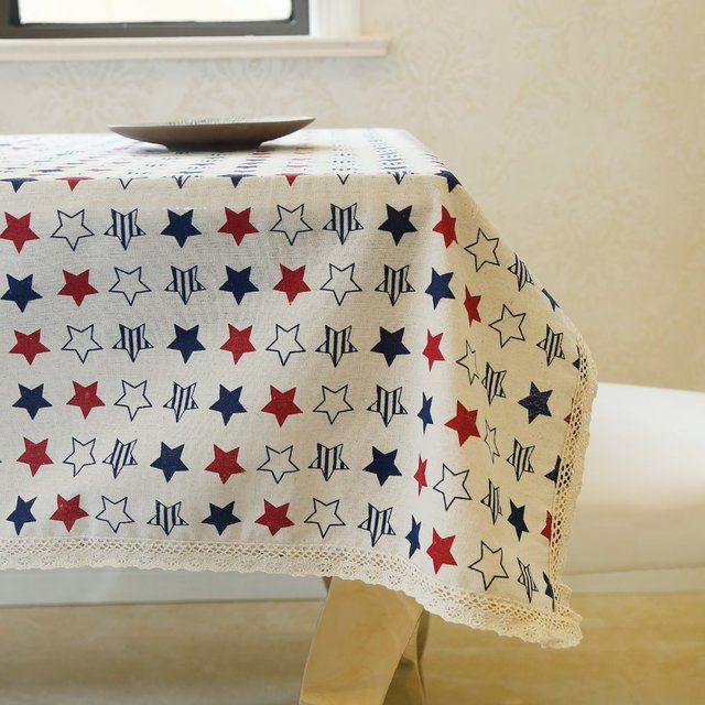 Latest High Grade Eco Friendly Colorful Little Star Table Cloth