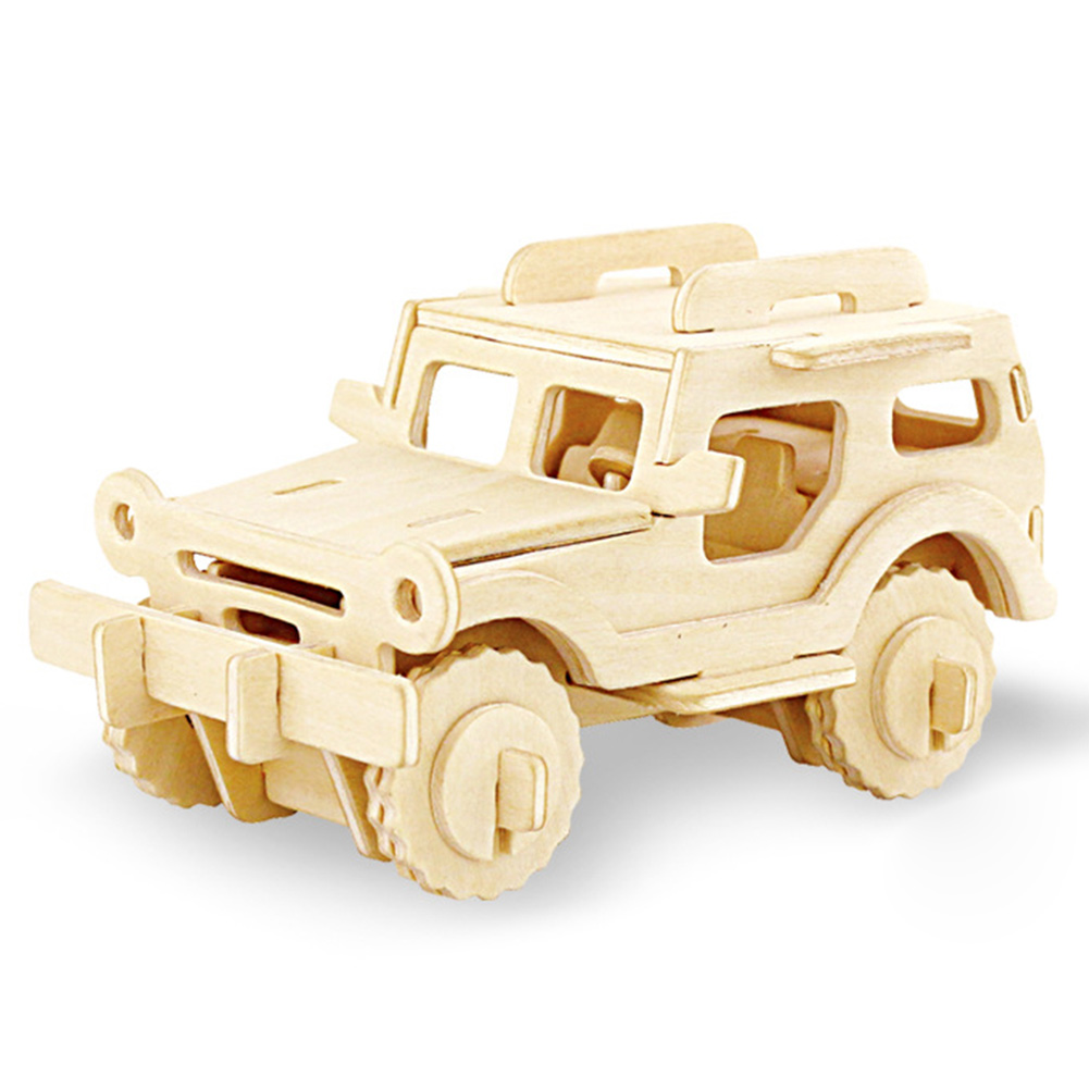 DIY Kids Gift Children Vehicle Game Assemble Toy Hobbies 3D Truck Aircraft Building Kits Car Learning Educational Wooden Model