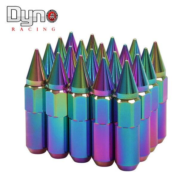 CARRERAS de DYNO-60mm Neo Chrome Wheel Nuts 12x1.5/1.25mm Tuercas Con Pico Tornillos de rueda Tuercas de Las Ruedas