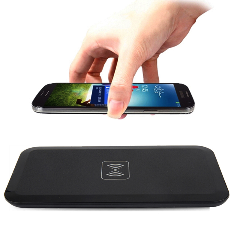 Portable Qi Wireless Charger For Samsung Galaxy S8 S7 S6 edge Wireless Charging Pad For iPhone X 8 Plus Nokia Lumia 1520 930 920(China)