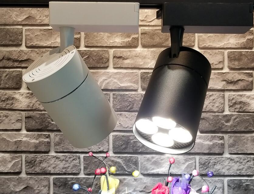 35W E27 PAR30 LED connecteurs de lampe de lumière de voie noir blanc 2 fil Rail droit L T connecteur croisé pour LED rails de projecteur