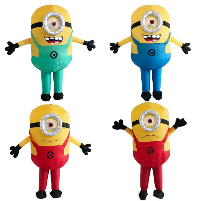 New Minion Inflatable Costume With One Eye Or Double Eyes Halloween Cosplay Party Adult