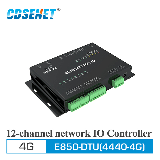 4G Transceiver 12 Kanaals IO Controller RS485 Draadloze Zender E850 DTU (4440 4G) quad band 850/900/1800/1900 MHz Reciever
