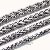 Sales Keel Chain Male Keel Chain 316 Stainless Steel Male Necklace Circle Chain Gifts Sexy Stainless Steel Rope Chain Necklace