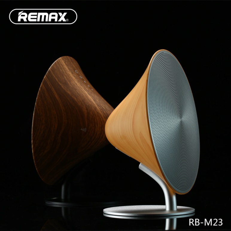 <font><b>Bluetooth</b></font> 4.2 audio desktop stereo <font><b>Bluetooth</b></font> <font><b>speaker</b></font> NFC creative home sound box Touch key design Built-in battery remax sd card image