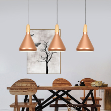 Vintage Industrial Lighting loft Lamp Wood Pendant Lights American Aisle Retro coffee bar lighting