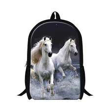 Dispalang 2017 Animal lightweight backpacks for boys,white plush horse printing school book bags for Children book bags Mochilas