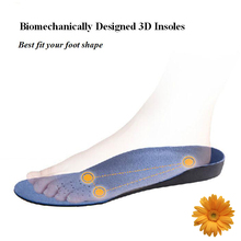 Free Shipping Camping&Hiking Walking 1pair 3D Premium Comfortable Orthotic Shoes Insoles Inserts High Arch Support Pad Women Men