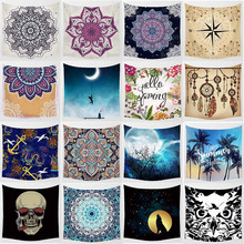 Hot sale mandala flowers animal owl large tapestry high-definition printing  wall hanging home decoration