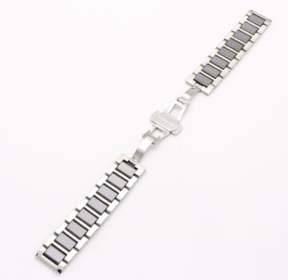 16 18 20 мм Серебро Твердой Стали Ремешок - Аксессуары для часов - Фотография 6