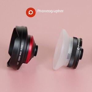 Image 5 - Phoneographer Lente Mobile Esterno ad alta definizione SLR set di mirror cellulare universale obiettivo Macro Lens wide angle lens