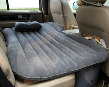 PVC flocked inflatable car bed with two pillows for sale