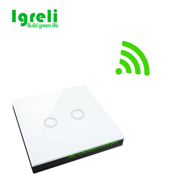 2018 Home For Intelligent Wireless Remote Control Transmitter 433 Mhz Wall Stickers With Eu 2 Gang Tandard Switch Light Touch