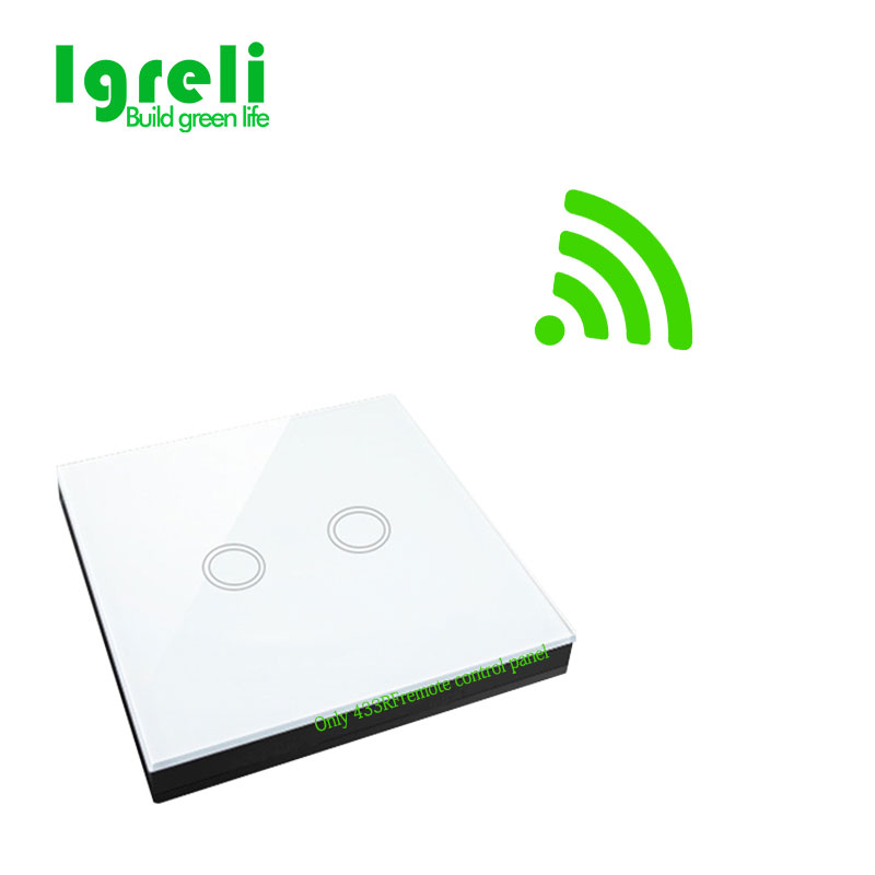 home Intelligent Wireless Remote Control transmitter 433 MHz Wall Stickers with EU 2 gang tandard switch Light touch wall