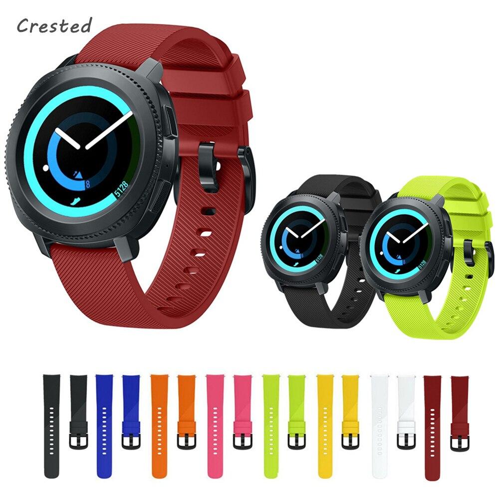 цена на 20mm Watch band for Samsung gear sport strap Silicone band for Samsung gear S4/S2 classic smart watch wrist bracelet