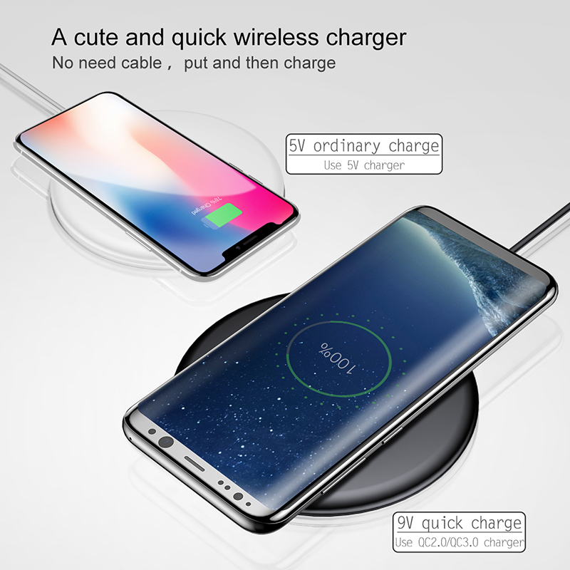 Baseus 10w Fast Qi Wireless Charger For iPhone and Samsung