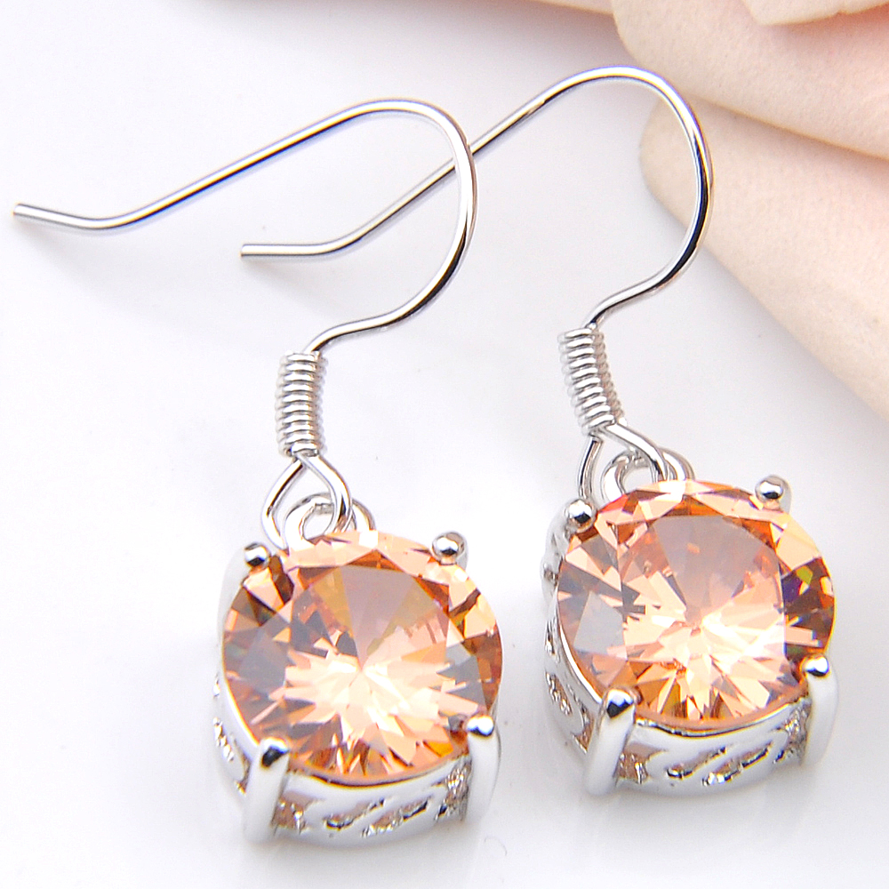 Luckyshine New fashion Cute/Romantic Mix 8 Pair/Lot Zirconia Drop Earrings For Women Engagement Silver Jewelery Earring