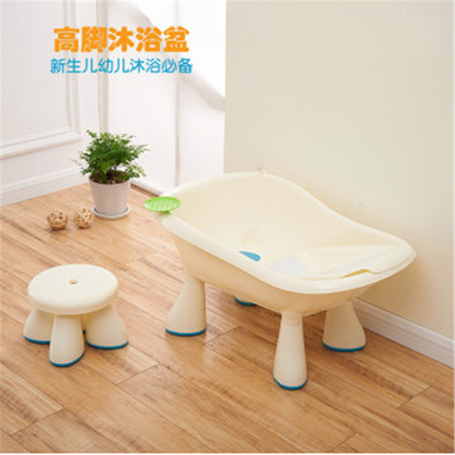 Free shipping plastic baby tub set with stool infant to toddle ...