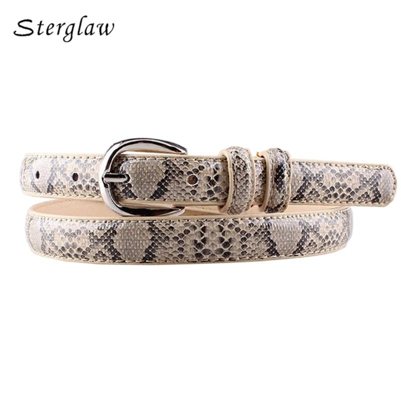 high quality pu leather snake waist   belt   women 2018 Hot designer   belts   for women's dress cinto feminino sterglaw N002