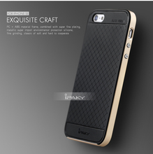 iPaky Orignal Brand For iPhone 5/5S/SE Case PC Frame+Silicon Back Cover Cellphone Case for iPhone SE/5/5S with Glass Protector