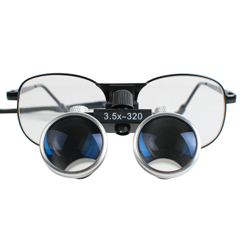 High end Luxury Brand New Dentist Black Metal Dental Surgical Medical Binocular Loupes 3 5X 320mm