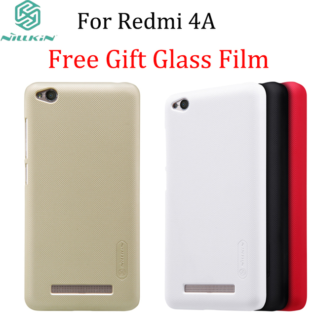 size 40 94ed7 7fb03 US $8.88 |Glass Film Gift For Xiaomi Redmi 4A (5 inch)case Nillkin Frosted  Shield Hard Case for Xiaomi Redmi 4A cover Gift Screen Film-in Fitted Cases  ...