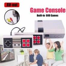 Mini TV De Poche Console de Jeu Vidéo Jeu Console Pour Nes Jeux avec 600 Différents Jeux Intégrés PAL NTSC
