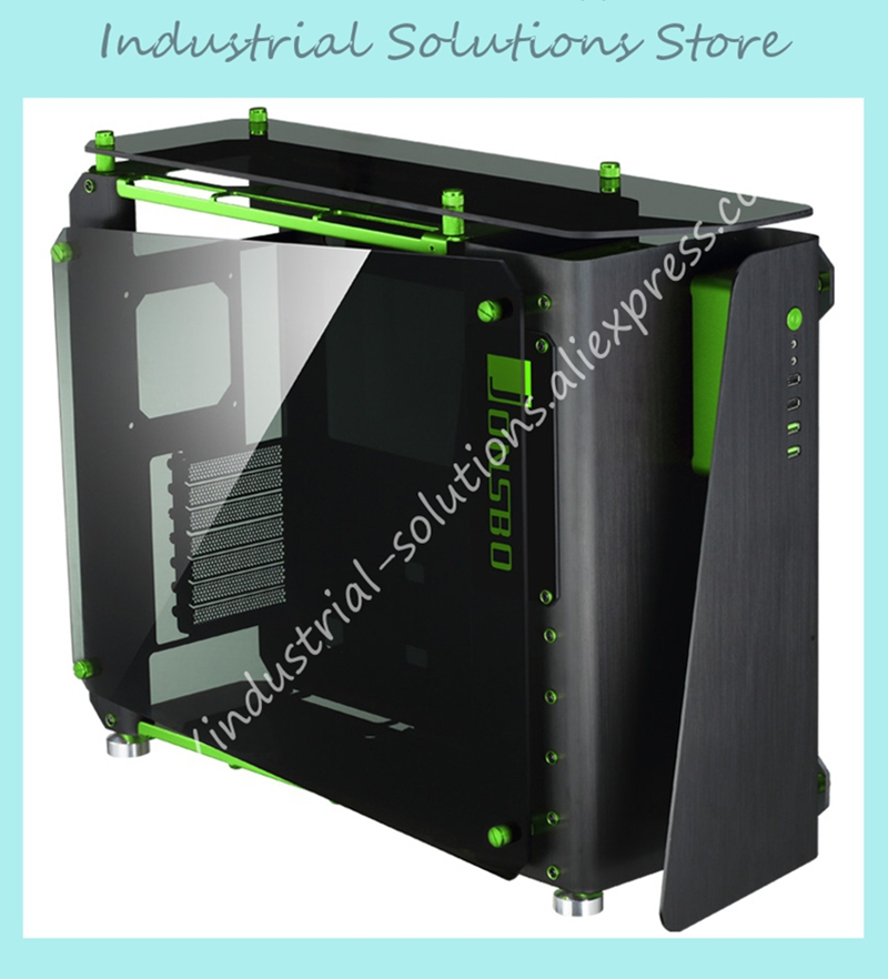 MOD1 all tower cabinet supports ATX board / all aluminum case 5.0MM thickness main toughened glass