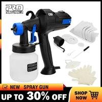Prostormer 800ML Handheld HVLP Spray Gun Paint Sprayers High Power Home Paint Gun Flow Control Electric Airbrush Easy Spraying